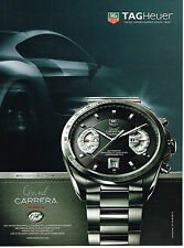 PUBLICITE ADVERTISING 094  2008  TAG HEUER   montre GRAND CARRERA
