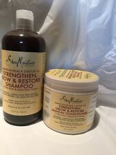 Shea Moisture JAMAICAN BLACK CASTOR OIL SHAMPOO & LEAVE-IN CONDITIONER.Big Sizes