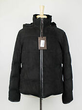 New. BRIONI Black Suede w/ Weasel Fur Down Filled Puffer Jacket 50/40/M $19,975