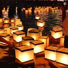 Homecube Outdoor Water Floating Candle Lanterns Biodegradable White Chinese for