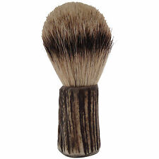 Stag Antler Shaving Brush with Finest Badger Bristle by English Pewter Company