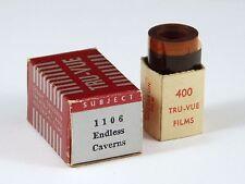 Tru-Vue Film Strip #1106 ENDLESS CAVERNS OF VIRGINIA 3D Photos Stereoviews w/box