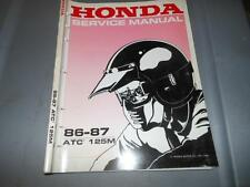 Factory Honda 1986 1987 ATC125M Service Manual 19Chpt