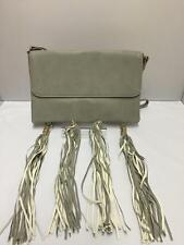 Ladies Grey Tassel Charm Clutch Handbag Girls Purse Hobo Cross Body Bag Ch2455