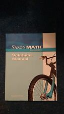 Saxon Math Intermediate 3 Solutions Manual  - NEW