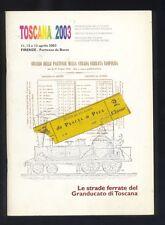Le strade ferrate del Granducato di Toscana 2003 Firenze filatelia ferrovie  R