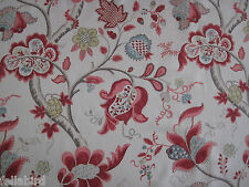 SANDERSON CURTAIN FABRIC Roslyn 1.8 METRES BERRY AND SLATE 100% LINEN VINTAGE CO