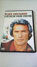 """DVD """"LICENCIA PARA MATAR"""" CLINT EASTWOOD"""