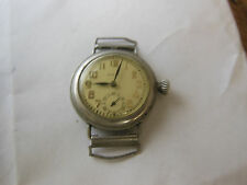 vintage 1918 WWI ELGIN Grade 462  military trench watch FAHYS ORE SILVER RUNNING