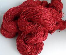 505g of RED TWEED 100% PURE KNITTING WOOL - 5 SKEINS (HUNTERS OF BRORA)