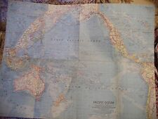 PACIFIC OCEAN/OCEANIA MAP 1962-BORDERS,CEASE FIRE-TRUST TERRITORIES-NAT GEO SOC