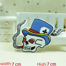 New Skull Embroidered Iron/Sew on Patches/Badge Applique Motif DIY Badges E013
