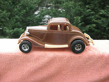 "Tootsie Toy Plastic 1934 Ford Victoria~Brown~By Durant Plastics~11 1/4"" Length"