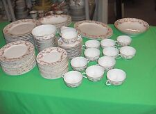 80 Pc Vintage Thun China Bridal Rose Bohemia Czechoslovakia Service For 12 RARE