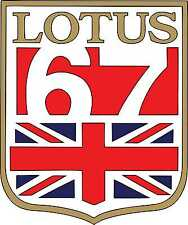 Vintage course autocollants grand prix team lotus 67 racing graphics race car decals