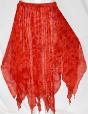 RED BOHO GYPSY HIPPIE EMO BELLY DANCE DANCING FAIRY PETAL PIXIE COSTUME Skirt