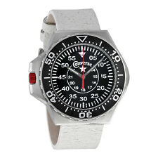 Converse Foxtrot Culture Black Dial White Leather Unisex Watch VR-008-150