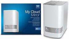 4TB Western Digital WD My Cloud MIRROR External Hard Drive WDBWVZ0040JWT GEN 2