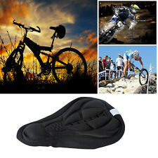 Cycling Bicycle Bike Silicone Saddle Seat Cover Silica Gel Cushion Soft Pad Blac