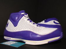 2007 Nike Zoom BB II 2 BASKETBALL WHITE PURPLE SILVER 317993-151 11
