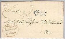 ITALIA REGNO:  storia postale - BUSTA / LETTERA prefilatelica da SARNICO 1850
