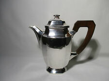 ANCIENNE CAFETIERE EN METAL ARGENTE ART DECO POINCONS ALTE KAFFEE OLD COFFEE