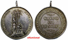 BRITISH INDIA Silver Medal 19th Century Total Abstinence Association 34.2mm RARE