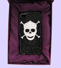 JIMMY CRYSTAL NY iPhone 4 & 4S SKULL Rhinestones Case Msrp $175   *Original Box*