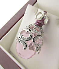 STUNNING PINK TOPAZ HANDMADE OF SOLID STERLING SILVER 925 RUSSIAN EGG PENDANT