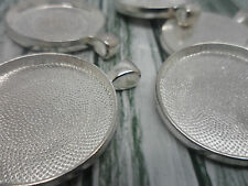 5 x 30 mm Argent Pendentif settings, cadres, les conclusions.40 x33mm 30mm plateau craft hobby
