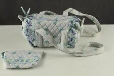 2PC Lot Designer Purse VERA BRADLEY Quilted Cotton 1999 WATERCOLOR Bee Retired