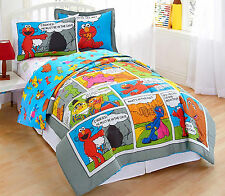 TWIN /SINGLE - Sesame Street - Comic Strip SHEET, SHAM & COMFORTER SET