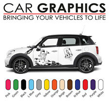 Mini car graphics number decals stickers cooper vinyl design mn7