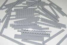 LEGO LOT OF 50 NEW 1 X 12 LIGHT BLUISH GREY PLATES BUILDING BLOCKS