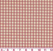 P Kaufmann Red Ivory Gingham Plaid Woven Upholstery Fabric Colton Red BTY