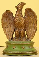 VINTAGE PAIR OF PAINTED METAL EAGLE & STAR AMERICANA BOOKENDS BOOK END
