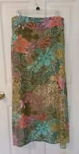 BEAUTIFUL KENZO JUNGLE COLLECTION VINTAGE SILK SKIRT FLORAL PRINT SIZE 40 / 8