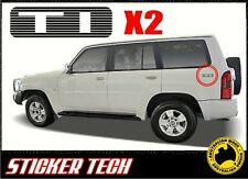 2x TI GU PATROL WAGON STICKER DECAL TO SUIT NISSAN TURBO DIESEL QUARTER PANEL