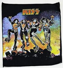 Kiss Destroyer Rare Vintage 80's Large Patch Printed Backpatch 301mm x 359mm