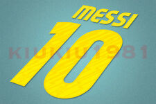 Barcelona Messi #10 2010-2011 Homekit Nameset Printing