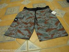 Men's board shorts 28 RVCA performance stretch surf skate swim green camo NEW