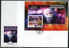 SIERRA LEONE  2015 INT'L YEAR OF LIGHT WITH PRINCE ANDREW S/S  FIRST DAY COVER