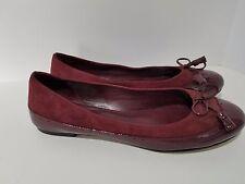 Cole Haan Rosetta Merlot Patent Suede Tassel Bow Ballet Flats Size 9.5 M D35737