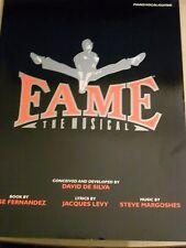 Fama. el musical por Steve Margoshes y Jacques Levy. piano/Vocal/Guitarra. nuevo