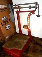 ANTIQUE FAIRBANKS SCALE CAST IRON OR WROUGHT IRON  EARLY  1900'S WORKING ORDER