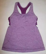 LULULEMON TURBO TANK TOP HEATHERED DEW BERRY YOGA RUNNING DANCE SPIN EUC size 6
