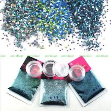 Glitter Powder For DIY Nail Art Tips Makeup Tool Mix Peacock Blue Green Gradient