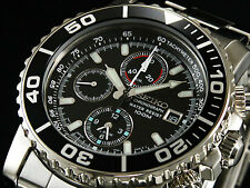 NEW MEN'S SEIKO DAYTONA ALARM CHRONOGRAPH 100M ANALOG SPORTS WATCH SNA225P1