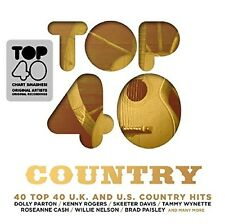TOP 40-COUNTRY 2 CD NEU KENNY ROGERS/DOLLY PARTON/JIMMY DEAN/CHRIS YOUNG/+