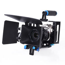 Camera Cage Rig+Follow Focus+Matte Box Video Movie Kits For DSLR/DV Video Camera